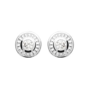 Boucles d'oreilles Argent 925 Rhodié - CHRISTALE